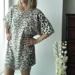 Urban Outfitters animal print tunic top dress XS/S